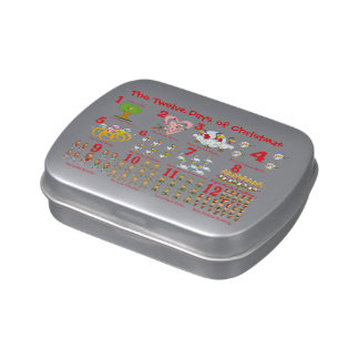 Twelve Days of Christmas Jelly Belly Candy Tins