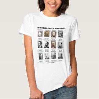 Twelve Founding Schools Of Thermodynamics Tee Shirts