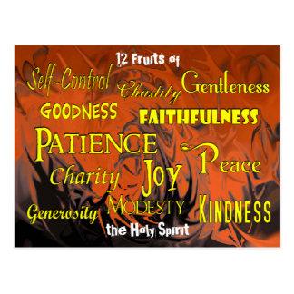 Twelve Fruits (dancing flames) - Postcard