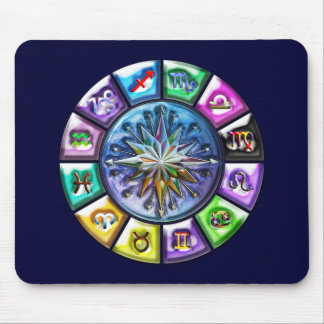 Twelve Signs of The Zodiac Earth Art Mouse Pad