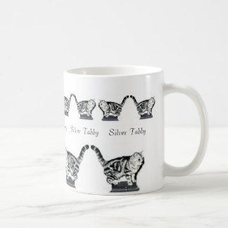 Twelve Silver Tabbies Basic White Mug