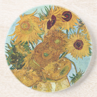 Twelve Sunflowers by Van Gogh Coaster