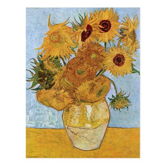 Twelve Sunflowers by Vincent Van Gogh Postcard