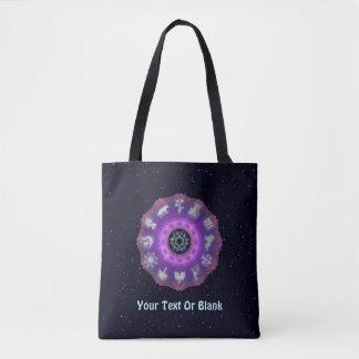 Twelve Tribes Fractal Tote Bag
