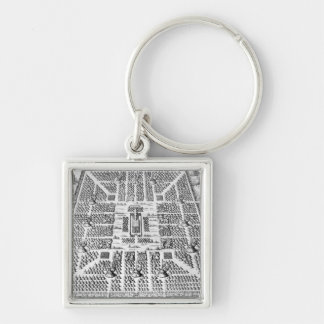 Twelve tribes of Israel Silver-Colored Square Key Ring