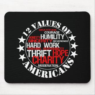 Twelve Values of Americans Mouse Mat