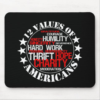 Twelve Values of Americans Mouse Pad