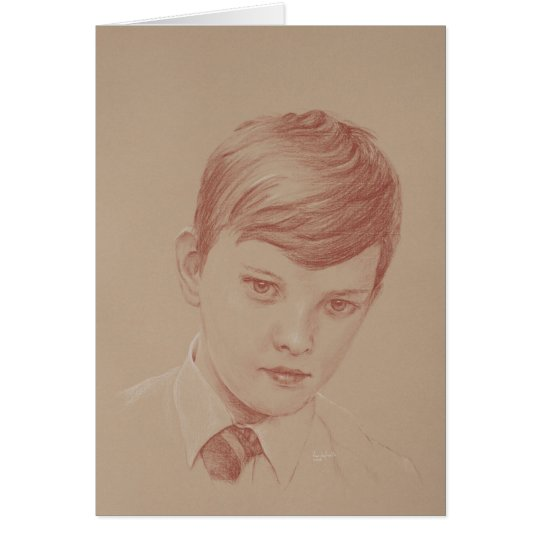 Twelve Year Old Boy in School Uniform Card