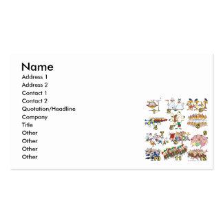 twelves days christmas song cartoon business card template