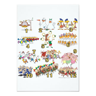 twelves days christmas song cartoon personalized announcements