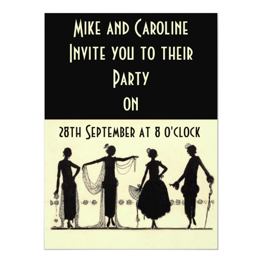 Twenties Flapper Party Invitation