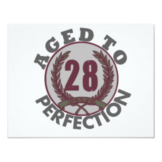 Twenty Eight and aged to Perfection Birthday Announcements