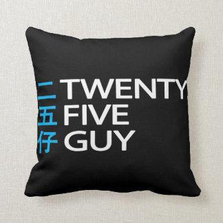Twenty Five Guy 二五仔 Pillow Black & White Throw Cushions