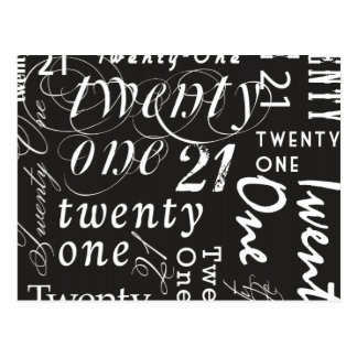 Twenty One Postcard