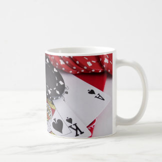 Twenty-One Spades with Chips Coffee Mug