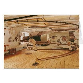 Twenty-Seven Pound Cannon on a Battleship Card