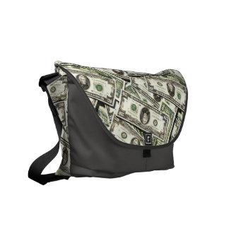 Twenty US Dollar Bills Messenger Bags