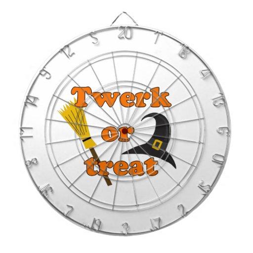 Twerk or treat - Halloween funny design Dartboard