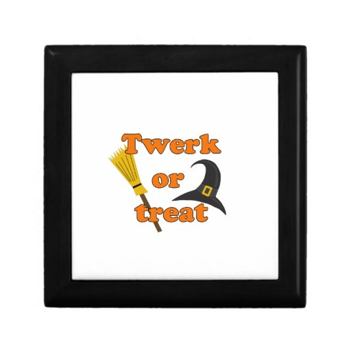 Twerk or treat - Halloween funny design Keepsake Box
