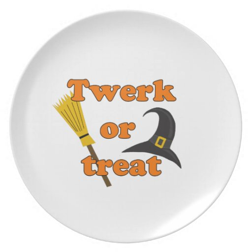 Twerk or treat - Halloween funny design Melamine Plate