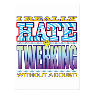 Twerking Hate Face Postcard