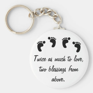 Twice as Much to Love Basic Round Button Key Ring
