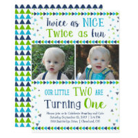 twin birthday invitations zazzle uk