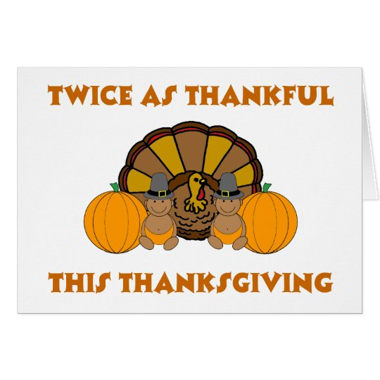 Twice As Thankful This Thanksgiving AA Card