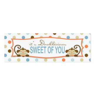Twice the Fun BOYS TY Skinny Gift Tag 2 Pack Of Skinny Business Cards