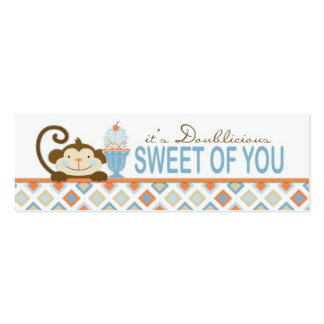 Twice the Fun BOYS TY Skinny Gift Tag Pack Of Skinny Business Cards
