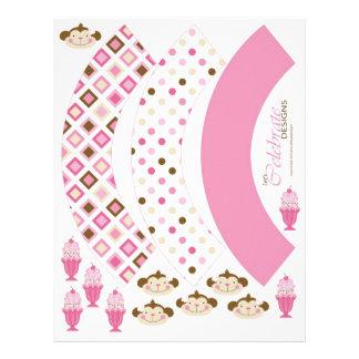 Twice the Fun GIRLS Cupcake Wrappers 2 21.5 Cm X 28 Cm Flyer