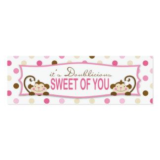 Twice the Fun GIRLS TY Skinny Gift Tag 2 Pack Of Skinny Business Cards