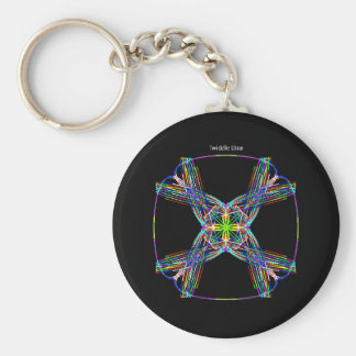 """Twiddle #100 - 2.25"""" Round Button Keychain"""