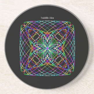 "Twiddle #118 - 4.25"" in diameter sandstone coaster"