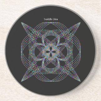 "Twiddle #119 - 4.25"" in diameter sandstone coaster"