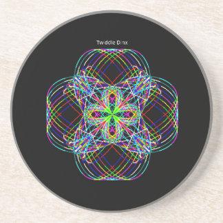 "Twiddle #139 - 4.25"" in diameter sandstone coaster"