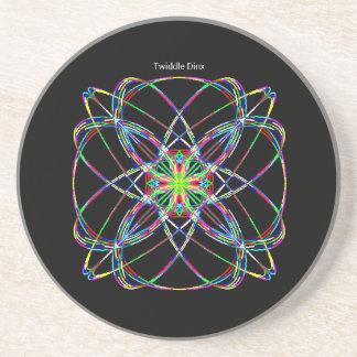 "Twiddle #15 - 4.25"" in diameter sandstone coaster"