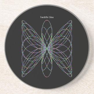 "Twiddle #3 - 4.25"" in diameter sandstone coaster"