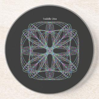 "Twiddle #55 - 4.25"" in diameter sandstone coaster"