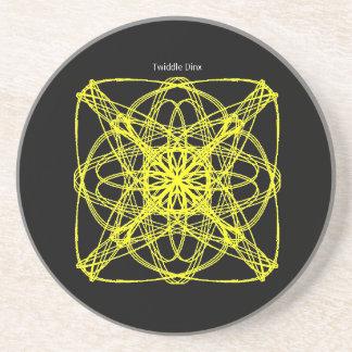 "Twiddle #62 - 4.25"" in diameter sandstone coaster"
