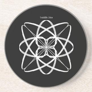 "Twiddle #81 - 4.25"" in diameter sandstone coaster"