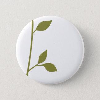 Twig and Leaf 6 Cm Round Badge