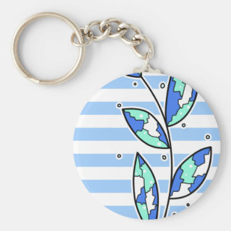 Twig Basic Round Button Key Ring