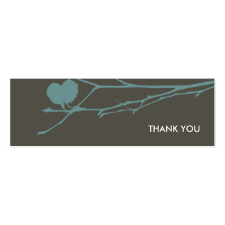 Twig Gift tag THANK YOU : CHARCOAL - BLUE Business Card Templates