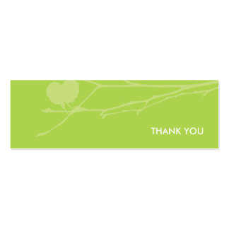 Twig Gift tag THANK YOU : GREEN Business Card Templates