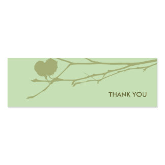 Twig Gift tag THANK YOU : GREEN-MINT Business Card Templates