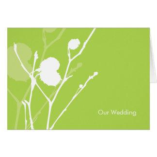 Twig GREEN Wedding Invitation Cards