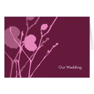 Twig PLUM Wedding Invitation Greeting Card