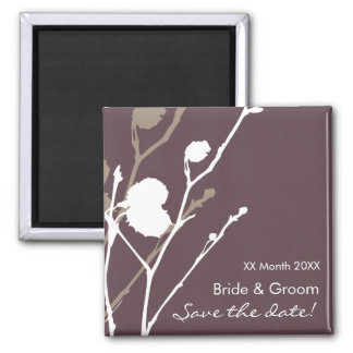 Twig- PURPLE-SMOKE Save the date Magnet Magnets