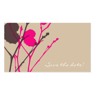 Twig SANDSTE & PINK Save the date! MINI Business Card Template